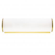 801813 (MB338-1GL) Светильник настенный BLANDA 1х40W E14 белый/золото (в комплекте)